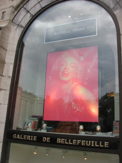 Russell Young copying Damien Hirst with a bootleg image of Marilyn Monroe, I think...