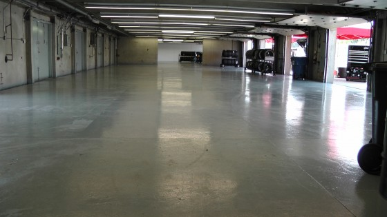 Another empty garage at The Napa Auto Parts 200 presented by Dodge