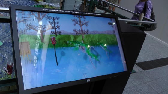 "The massive touch screen thing used to explain an ecosystem almost as far removed from The Eaton Centre as the moon. It gets bonus points for allowing the organizers to use the words ""interactivity"" and ""multi-media."""