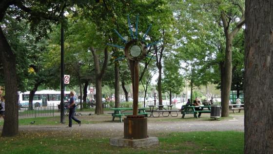 A sculpture by Glen Le Mesurier in Arcane de mer at Cabot Square.