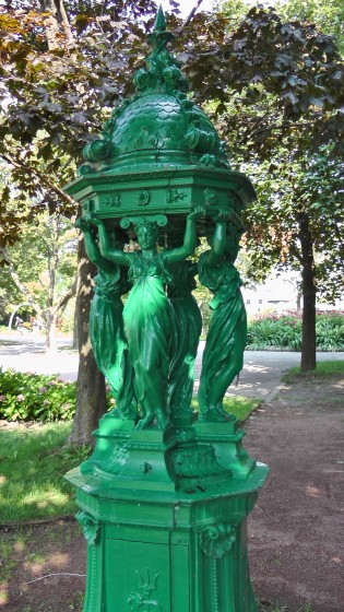 Wallace Fountain by Charles-Auguste Lebourg