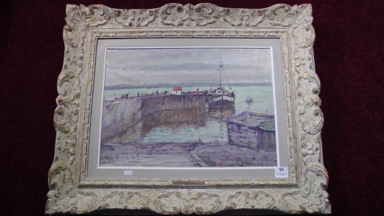 An painting oil on board by R.W. Pilot