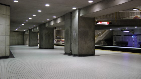 The view on the platform.