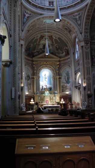 Interior of the Chapelle Notre-Dame-de-Lourdes.