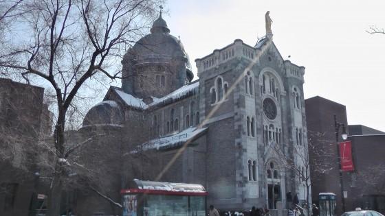 Chapelle Notre-Dame-de-Lourdes de Montréal viewed from the east.