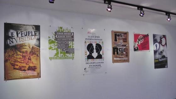 Publicité Sauvage's posters on understanding at the Écomusée du fier monde.
