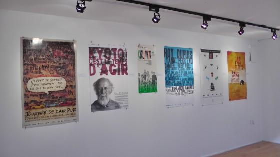 Publicité Sauvage's posters on environmental awareness at the Écomusée du fier monde.
