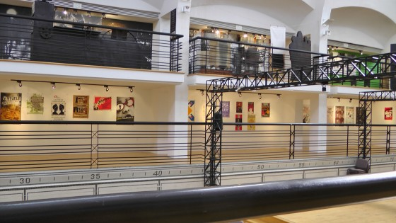 The first part of the Publicité Sauvage exhibit at the Écomusée du fier monde.