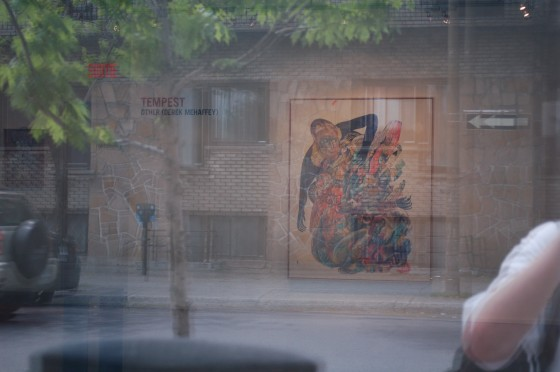 Installation shot from the street of Tempest by Other at Yves Laroche galerie d&#039;art