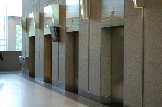 The elevators at 1000 de La Gauchetiere