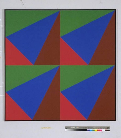 "Sans titre, Acrylic on Canvas, 68"" x 68"", 1970/74"