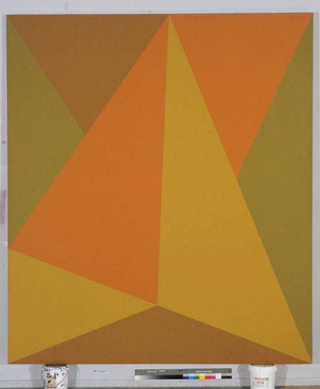 "Triangulaire Orange, Acrylic on Canvas, 98"" x 86"", 1974"
