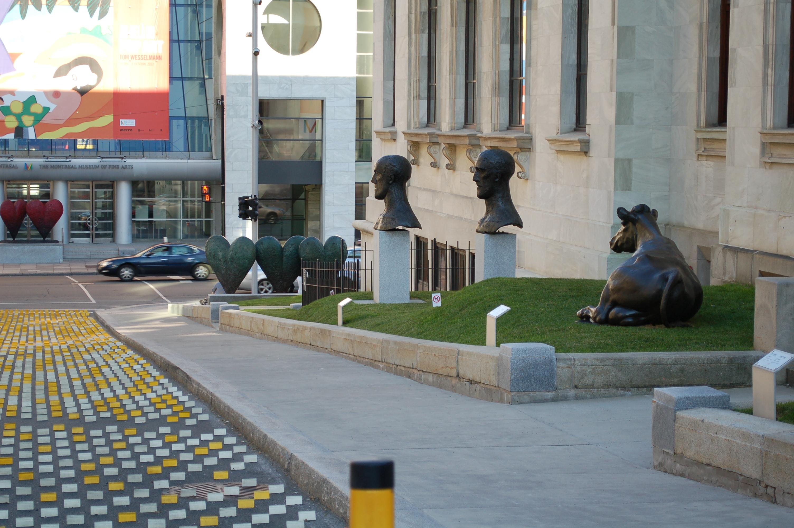 View Of The New Sculpture Garden At The Musée Des Beaux Arts De Montréal