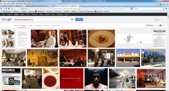Montreal Restaurant Image Search